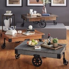 Shop for Myra Vintage Industrial Modern Rustic 47-Inch Coffee Table by TRIBECCA HOME. Get free shipping at Overstock.com - Your Online Furniture Outlet Store! Get 5% in rewards with Club O! - 14288171