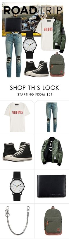 """""""Wild Ones"""" by jacksonwang852g7 ❤ liked on Polyvore featuring Harley-Davidson, AMIRI, Yves Saint Laurent, Converse, Skagen, Status Anxiety, Dsquared2, Mahi, men's fashion and menswear"""