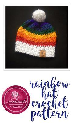 9fb05511995 Over the Rainbow Hat Crochet Pattern