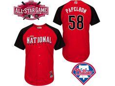 MLB 2015 All Star PHILADELPHIA PHILLIES #58 PAPELBON RED JERSEY