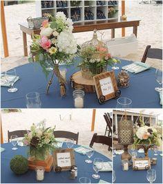 little miss lovely floral design // indian river life saving station wedding // rustic coastal beach wedding