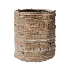 RECYCLE LEATHER BASKET(Beige)