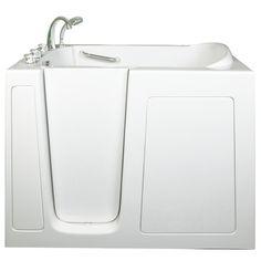 Ella Walk In Bath Low Threshold Hydrotherapy Whirlpool Walk-In Tub Drain Location: Left Drop In Bathtub, Bathtub Drain, Soaking Bathtubs, Whirlpool Bathtub, Walk In Tubs, Walk In Shower, Bathtubs For Sale, Shower Installation
