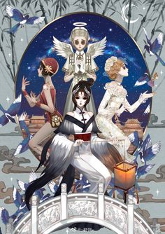 图_-君翎-__插画师作品_涂鸦王国gracg.com Friends Merchandise, Gothic Artwork, Friends Wallpaper, Identity Art, Cool Drawings, Horror, Geek Stuff, Kawaii, Fan Art