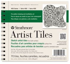 Strathmore Artist Tiles for pattern drawing and meditative art. Experience the emotional benefit of art through pattern drawing on Strathmore Artist Tiles! Sketch Paper, Gel Ink Pens, Drawing Exercises, Drawing Letters, Black Artists, Paint Shop, Pattern Drawing, Tiles, Surface