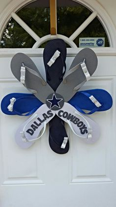 Dallas Cowboys Handmade Flip Flop Wreath
