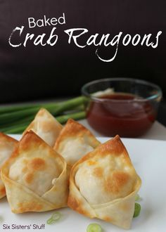 Six Sisters Baked Crab Rangoon Recipe on MyRecipeMagic.com. These were such a big hit at our house! #sixsistersstuff
