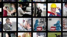 Eine Übersicht über verschiedene Berufe, vom Zugbegleiter bis zum Kassierer…
