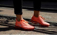 a0d3460843dd7 Cheap Sale Nike Air VaporMax 2018 Flyknit 2.0 OW Salmon Orange Pink Women  Women s Sneakers