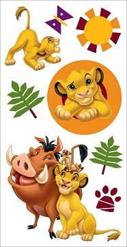 Lion King Disney 3D Scrapbooking Stickers