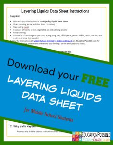 FREE Chemistry Lesson and Printable