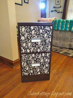 DIY filing cabinet makeover- love it!