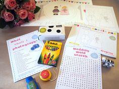 contents of wedding activity box