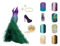 Guess the Disney Princess w/ matching Jamberry nail wraps..............    ...............Ariel from The Little Mermaid!!! Ask me how to apply Jamberry wraps for a manicure that lasts up to 2 weeks and is so easy it only takes 20 min from start to finish. Email for more info on how to order wraps by Jamberry - lisavandiver18@gmail.com