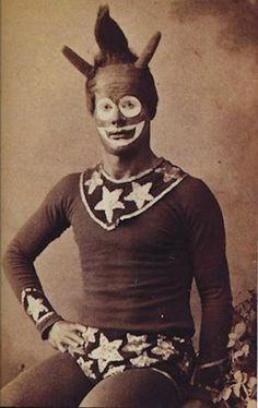 Vintage circus performer