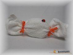 Mini-Windel-Bonbon, Diaper Cake, Baby Shower, Babyshower, Windeltorte, Windelfigur, Windeltier, Geburtsgeschenk