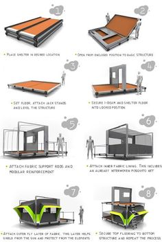 Flatpack Uber Shelter is Multi-storey emergency shelter.