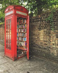 Many villages in the U.K. have turned red telephone boxes into mini libraries. Just take a book and leave one behind.