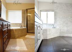 ORC-Week 4: Master Bathroom tile {Designer Style on a budget}