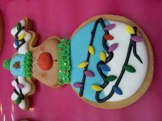 Cookies - reindeer with lightbulbs