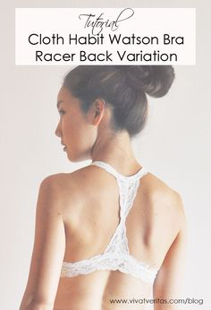 I'm so excited to share the tutorial for this racer back bralette variation of Watson bra! This is my third attempt to make Watson bra by Cloth Habit. You can see my first (black lace) and second bra attempts(apple print). This time, I made it with white stretch lace and changed the back to be racer …
