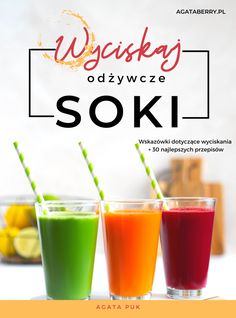 Okładka Fruit Smoothies, Health Fitness, Cooking Recipes, Tableware, Dinnerware, Chef Recipes, Tablewares, Dishes