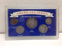 Americana Series Yester Year Collection Awesome 5 Coin Set w/ Silver Barber Half