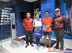 With Amirul Syafiq from ASICS and Coach Edan Syah at ASICS flagship store in 1 Utama