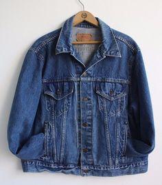 LEVI'S USA Made Vintage 80s Trucker Blue Denim Jean Jacket 70506-0216 Sz 48 R Xl #Levis #JeanJacket