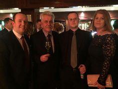 Stephen Redden, Brian Tracey, Mark Robinson and Holly Mackay at the in Ballsbridge Hotel on January 2015 Maldron Hotel, Belfast, January