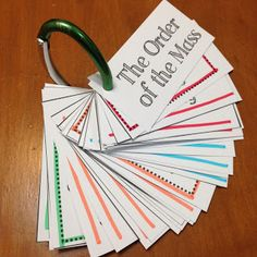 Look to Him and be Radiant: Order of the Mass Activity Cards- Help kids memorize and understand the Order of the Mass using these free activity cards