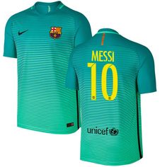 Lionel Messi Barcelona Nike 2016/17 Authentic Third Jersey - Green - $127.49