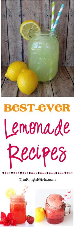 Best Ever Lemonade Recipes! ~ from TheFrugalGirls.com ~ you'll love these delicious variations of your favorite classic, including the BEST Strawberry Lemonade and Punches!
