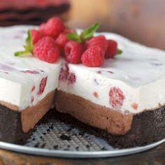 Raspberry Chocolate Cheesecake - Much easier than the raspberry pistachio cheesecake