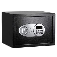 security safe with electronic lock and 2 emergency override keys. Digital Safe, Digital Lock, Security Safe Box, Safety And Security, Security Door, Best Home Safe, Hotel Lock, Home Lockers, Antique Safe