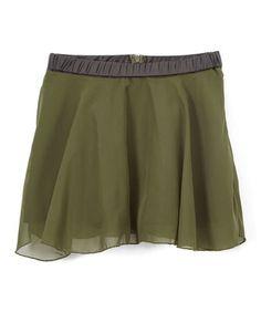 Green Chiffon Skirt - Kids & Tween