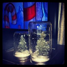 Ball Jar Snow Globes! Perfect Christmas gift idea for prayer partners!