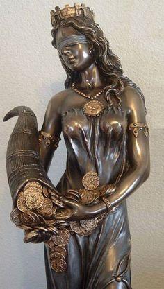 Fortuna, Blindfolded Goddess of Luck  - Roman Goddess
