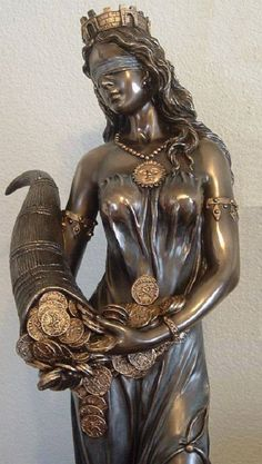 Fortuna, Blindfolded Goddess of Luck  - Roman Goddess