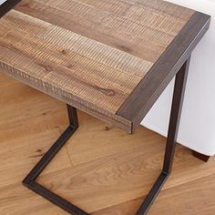 Great reclaimed wood look and looks like it's multi-use as a side table and an eating-in-front-of-the-tv tray :)