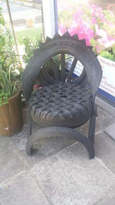 Cadeira de pneu