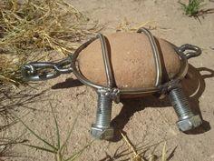 Metal & rock turtle by Jess Landin 11-22-15