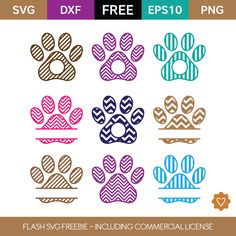 (FLASH FREEBIE) Dog Paw Prints - Grab this freebie while it's available ... no one knows how long they last! #DogCrafts