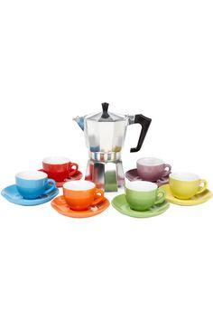 Pezzetti Coffee Set 6 cup multicoloured