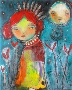 Listen To the Stars. By Juliette Crane. http://juliettecrane.com #juliettecrane #mixedmedia