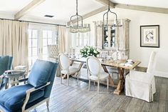 Traditional dining room by Palm Design Group.