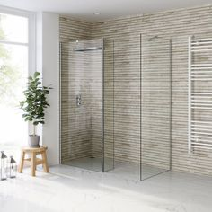 1000x800mm - 8mm - Premium EasyClean Wetroom Panel, Return & Side Panel