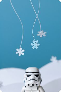 Storm trooper and snowflakes