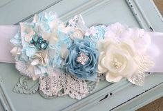Beautiful Custom Maternity Sash/ Bridal Sash/ Amazing Headband $55.00 USD (Approx £34.82 GBP) #sash #headband #maternity #bridal