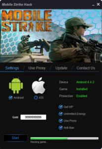 Mobile Stike hack is a really impressive tool. Thanks to become the best player among your friends, but not only .. Why? It is very easy. With our tool, you will get as much gold as you want! In addition, you can add a VIP for free!   DOWNLOAD: http://mobile-games-hack.com/mobile-strike-hack/